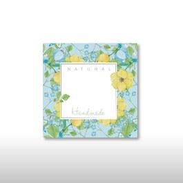 空白標籤貼紙-典雅之花